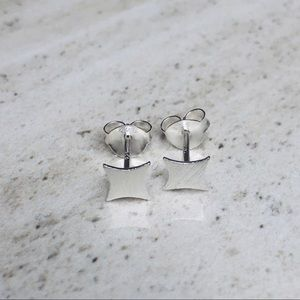 925 Sterling Silver Square Stud Earrings
